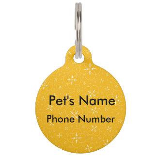 Yellow Crop Circle Pet ID Tag