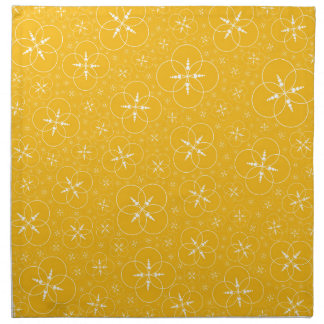 Yellow Crop Circles Cloth Napkin