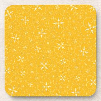 Yellow Crop Circles Coaster