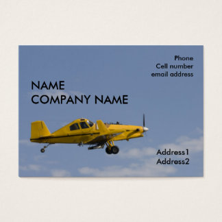 yellow crop duster side business card