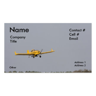 yellow crop duster tree top Double-Sided standard business cards (Pack of 100)