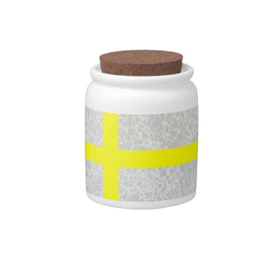 """Yellow Cross""  Candy Jar"