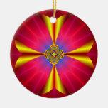 Yellow Cross Ornament