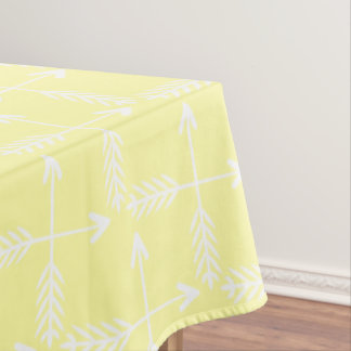 Yellow Crossed Arrows Pattern Tablecloth