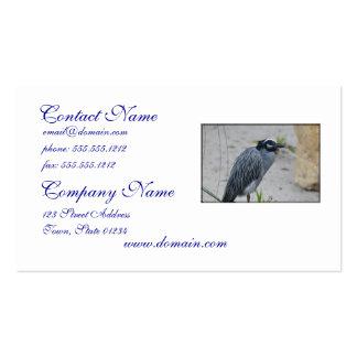 Yellow Crowned Night Heron Bird Business Cards