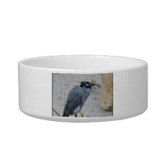 Yellow Crowned Night Heron Bird Cat Food Bowls