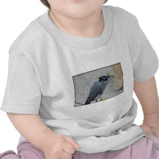 Yellow Crowned Night Heron Bird T Shirt