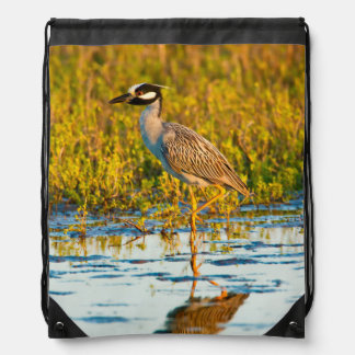 Yellow-Crowned Night-Heron (Nyctanassa Violacea) Drawstring Backpack