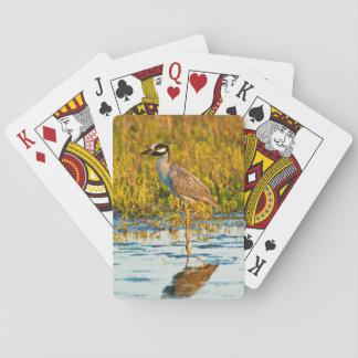 Yellow-Crowned Night-Heron (Nyctanassa Violacea) Playing Cards