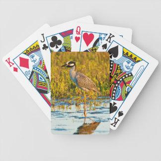 Yellow-Crowned Night-Heron (Nyctanassa Violacea) Bicycle Playing Cards