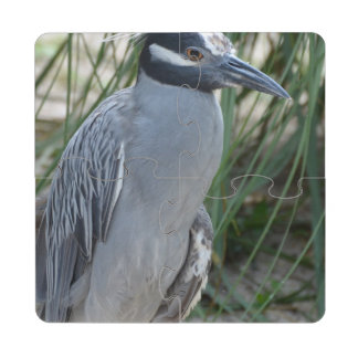 Yellow Crowned Night Heron Puzzle Coaster