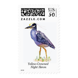 Yellow-Crowned Night Heron stamp