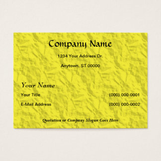 Yellow Crumpled Paper Designer Business Card