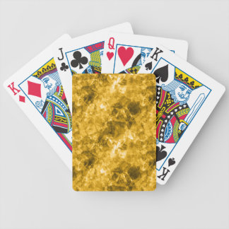 Yellow Crumpled Texture Bicycle Playing Cards