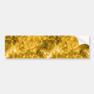 Yellow Crumpled Texture Bumper Sticker