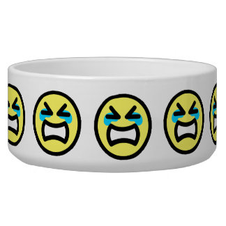 Yellow Crying Smiley Face Bowl