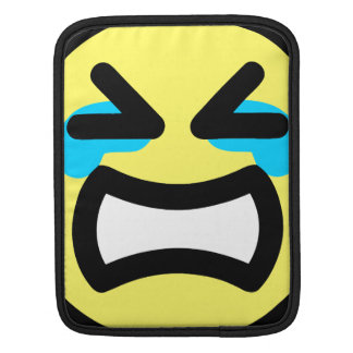 Yellow Crying Smiley Face Sleeves For iPads