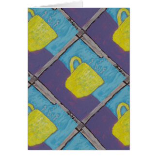 Yellow Cup Painting Greeting Card