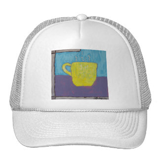 Yellow Cup Painting Trucker Hat