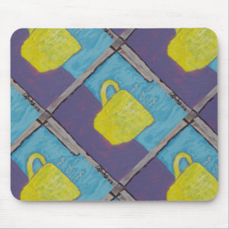 Yellow Cup Painting Mouse Pad