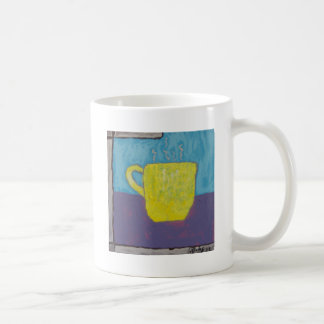 Yellow Cup Painting Classic White Coffee Mug