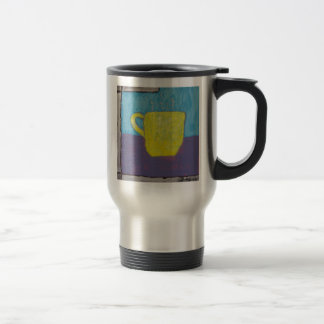 Yellow Cup Painting 15 Oz Stainless Steel Travel Mug