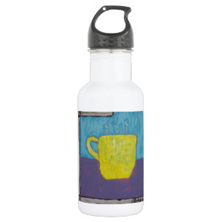 Yellow Cup Painting 18oz Water Bottle