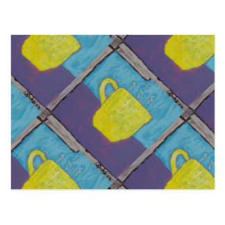 Yellow Cup Painting Postcard