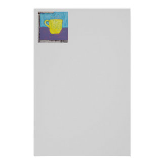 Yellow Cup Painting Customized Stationery