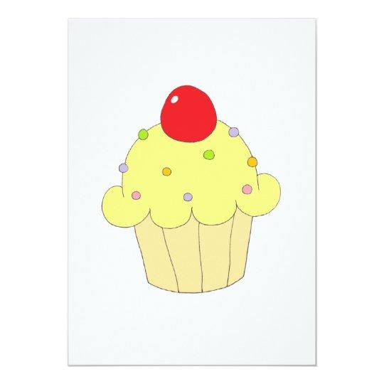 Yellow Cupcake Card