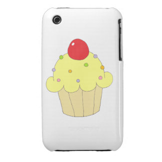 Yellow Cupcake iPhone 3 Case-Mate Cases