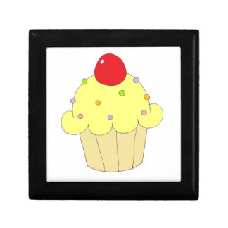 Yellow Cupcake Gift Boxes