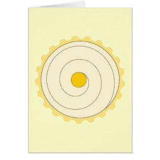 Yellow Cupcake. Iced cake. Card