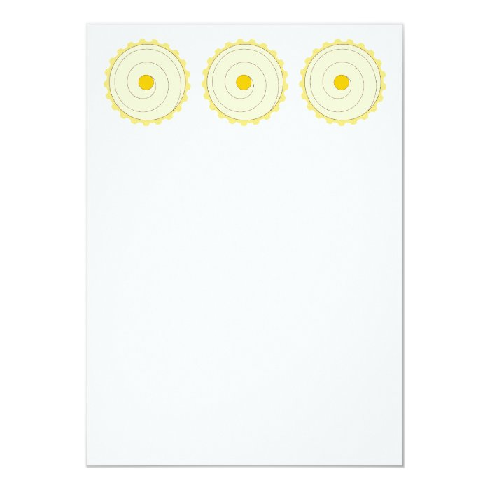 Yellow Cupcake. Iced cake. Card