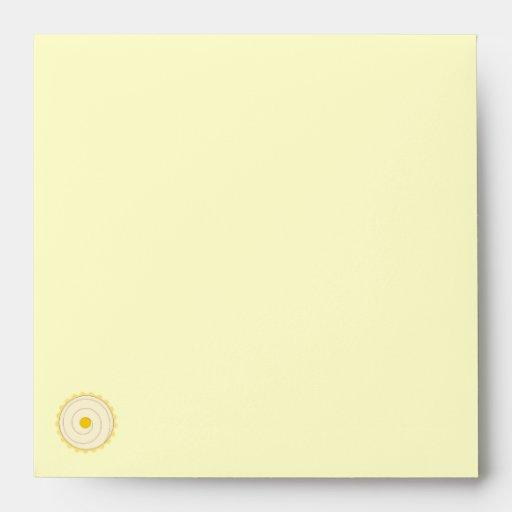 Yellow Cupcake. Iced cake. Envelope