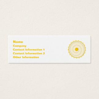 Yellow Cupcake. Iced cake. Mini Business Card