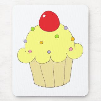 Yellow Cupcake Mouse Pad
