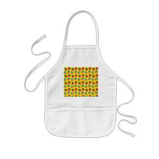 Yellow cupcake pattern kids' apron