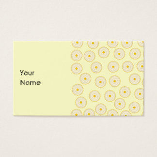 Yellow Cupcake Pattern. Business Card