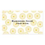 Yellow Cupcake Pattern. Business Card Templates