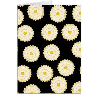 Yellow Cupcake Pattern. Card