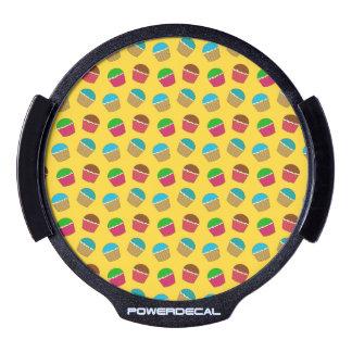 Yellow cupcake pattern LED car decal