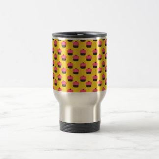 Yellow cupcake pattern coffee mugs