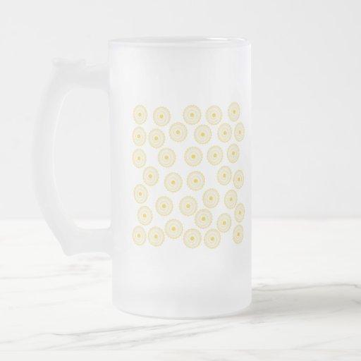 Yellow Cupcake Pattern. Mugs
