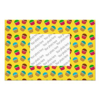 Yellow cupcake pattern photo art