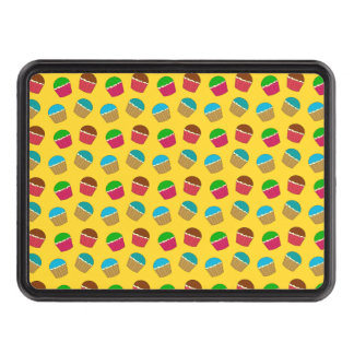 Yellow cupcake pattern hitch cover