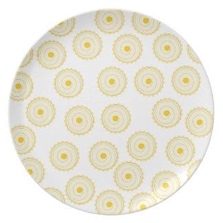 Yellow Cupcake Pattern. Plate