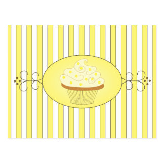 Yellow Cupcake Post Cards