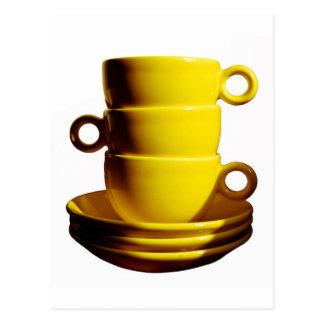 Yellow Cups Postcard