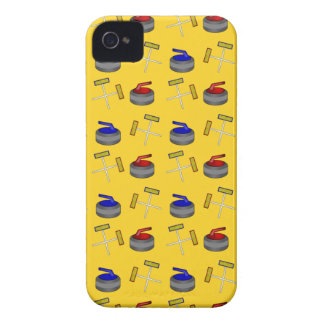 Yellow curling pattern iPhone 4 cases